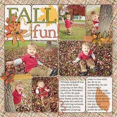 I know its spring... but maybe you are like me and just developing pictures from fall ;) Simple Scrapbook Storytelling by SuzyQ Scraps » 12 Autumn Scrapbook Page Ideas