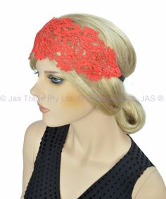 20s Great Gatsby Party Costume Head Piece Hair Band Flapper Lace Headband | eBay