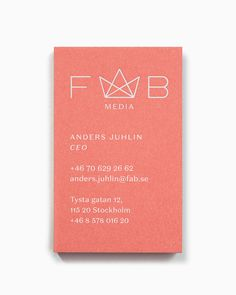 The Best Creative Business Cards 2017 – Fab Media by Bedow, Sweden