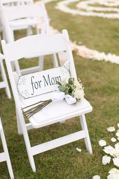 Ways to Remember Loved Ones at Your Wedding - Hochzeit tischdekorartion Ways to Remember Loved Ones at Your Wedding - Hochzeit tischdekorartion - wedding reserved seats for loved ones We know you would be here today if Heaven weren't so far Wedding Ceremony Ideas, Ceremony Decorations, Wedding Reception, Rustic Wedding, Our Wedding, Dream Wedding, Wedding Venues, Wedding Aisles, Wedding Gifts For Groom