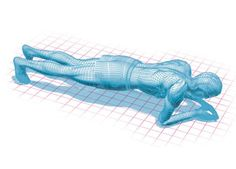 Illustration of a plank exercise.