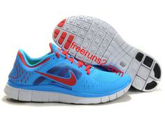finest selection 62d92 5b321 Mens Nike Free Run 3 Blue Glow University Red Pro Platinum Shoes Nike Free  Runs,