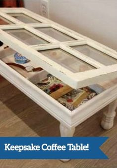 Create a one-of-a-kind flea market flip with an old paned glass window. This DIY Keepsake Coffee Table will soon be the favorite piece of furniture in your home.