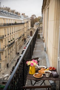 . Paris patio breakfast