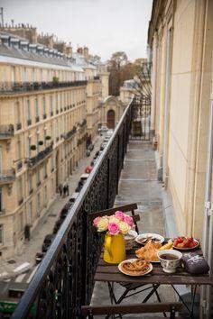 . Paris patio breakfast