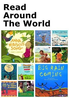 """Read Around the World - Great list of children's books by area to help you """"read around the world"""""""