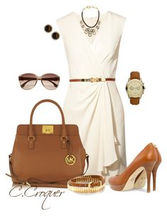 """Head to Toe Michael Kors"" by ccroquer ❤ liked on Polyvore featuring MICHAEL Michael Kors, Michael Kors and River Island"
