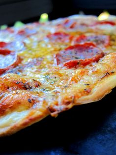 St. Louis style pizza, super thin, crisp crust and provel cheese.  It's a winner!