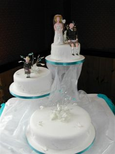 Butterfly And Crystal Wedding Cake