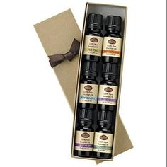 Pure Essential Oil Set -10ml ea Lavender, Tea Tree, Eucalyptus, Peppermint &more
