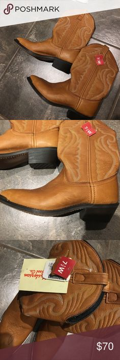 NWT ‼️ AUTHENTIC COWGIRL BOOTS Leather cowboy boots. NWT!! Size 7.5. masterson Shoes Heeled Boots