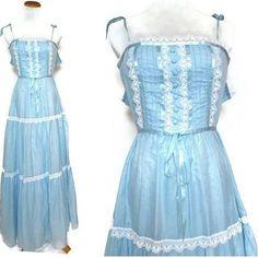 blue prairie dress - Google Search