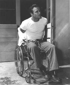 "Marlon Brando on the set of ""The Men"" 1950 Hollywood Men, Golden Age Of Hollywood, Classic Hollywood, Marlon Brando, Divas, El Divo, Jean Simmons, Gucci Models, Figure Poses"