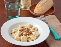 Ricotta Gnocchi with Bleu Cheese & Walnuts - by Dessert for Two for Food Fanatic