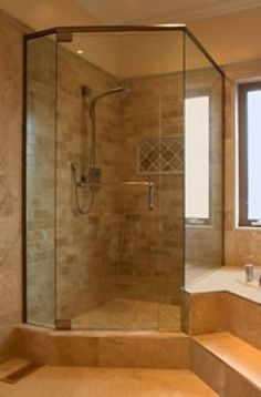 Corner Tub with Shower Ideas | Corner Shower - How to Install