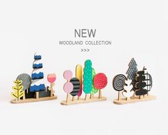 Miniature Woodland 03 Forest Trees Wood Monochrome by SketchInc