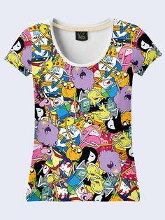 Adventure Time Women T Shirt Tee Jake Cartoon Short Sleeve 3D Print Size  XS-XL ad55496b93cf