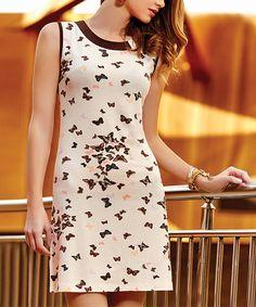 Pink Butterfly Sleeveless Dress - Plus Too #zulily #zulilyfinds