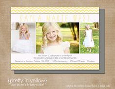 LDS Baptism Photo Invitation Digital or Printed by inPRINTdesigns, $13.50