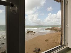 Scylla View Cottage - Cosy first floor Whitsand Bay cottage apartment, at foot of cliff, 12 feet above sandy beach at Tregonhawke. Two bedrooms, sea views. Open Plan, Plymouth, Cornwall, Cosy, Cottage, Windows, Beach, The Beach, Open Floor Plans