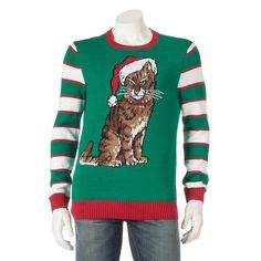 Men's Cat Holiday Sweater,