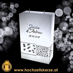 Hochzeitskerze mit Meteoriten Container, Box, Candles, Rustic, Homemade, Gifts, Decorations, Boxes, Canisters