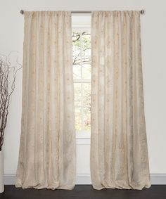 Look at this Samantha Ivory Window Curtain Panel on #zulily today!