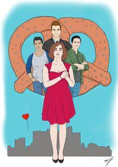 Crazy Ex-Girlfriend Art Print by Bepi Doodles - X-Small My Crazy Ex Girlfriend, Crazy Ex Gf, Rebecca Bunch, Crazy Ex Girlfriends, Buffy Summers, Bojack Horseman, Buffy The Vampire, Comedy Show, Great Tv Shows