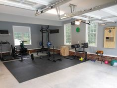 Great garage gym - Lots of space and sunlight - probably a very nice house as well