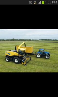New Holland FR forager and T70 series tractor.
