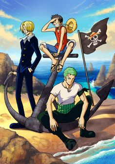 Three Monster in an Island @One Piece Ever