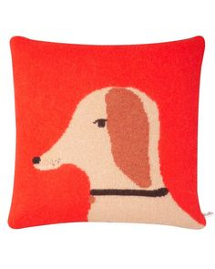 Dog Cushion - Red (with Insert)