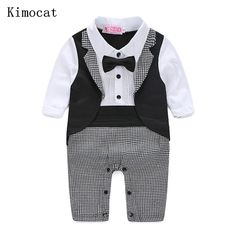 e5a57010878 Kimocat Baby Boy Rompers Autumn Kids Gentleman Clothes Long Sleeve One  Pieces Baby Jumpsuits Brand Clothing for Baby Boys-in Clothing Sets from  Mother ...