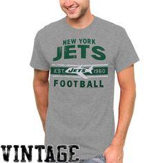 Junk Food New York Jets Vintage Crew Premium Tri-Blend T-Shirt ...