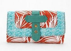 want this so bad.  Ecoté Mixed Pattern Checkbook Wallet from UO