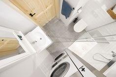 Mała, ale wariatka - nasza mikrołazienka Small Apartments, Small Spaces, Small Studio, Malaga, Bathtub, Design, Home Decor, Small Homes, Laundry Rooms