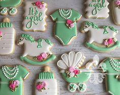 2 docena Mini Baby ducha Boho Cookies
