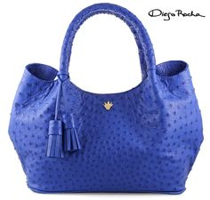 The Lily Bag in Electric Blue Ostrich