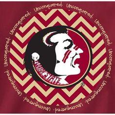 Florida State Seminoles T Shirts Chevron Pattern FSU Logo Unconquered