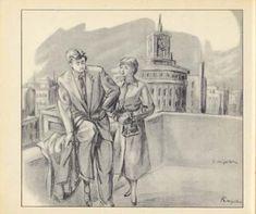 水谷清照:画(『出版美術家連盟1955年鑑』昭和30年) Wako Ginza clocktower