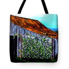 SWEET PEAS 2 Tote Bag for sale by T Fry-Green. $31.00 The tote bag is machine washable, available in three different sizes, and includes a black strap for easy carrying on your shoulder. All totes are available for worldwide shipping and include a money-back guarantee. #sweetpeas #peas #barn #farmlife #farm #roof  #fashionbag #tfrygreenart #tfrygreen #homeatlaststudio #art #original #tote #toteart #fineartamerica