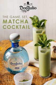 Both gluten and dairy free, cashew milk makes for the perfect base to this earthy Don Julio Blanco and matcha cocktail. To make, add 1 tsp. matcha tea powder and 2 oz. unsweetened cashew milk into a shaker. Shake. Add 1 oz. Don Julio Blanco, 2 oz. cashew