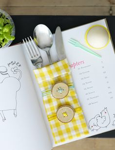 #DIY Sack for your cutlery - #101woonideeen.nl - Dutch interior and crafts magazine