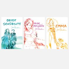 love these modern covers Jane Austen Classic Lines 3 Pack