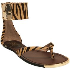 Happy Mother's Day to me!    Vince Camuto Zebra Ankle Strap Thong Sandal