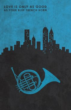 Blue French Horn How I Met Your Mother HIMYM by MMcKinneyDesigns