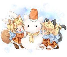 Dia de Neve com Rin e Len