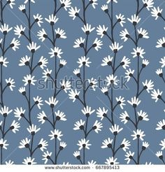 Seamless pattern of flowers.