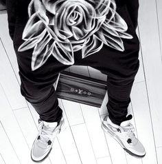 | B L V C K | Black Harem Pants // Men Fashion