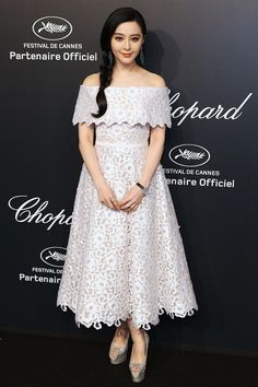 Fan Bingbing in Ralph & Russo attends the Chopard party during the 68th annual Cannes Film Festival. #bestdressed